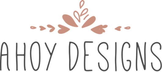 Ahoy Designs logo - wedding stationery and accessories