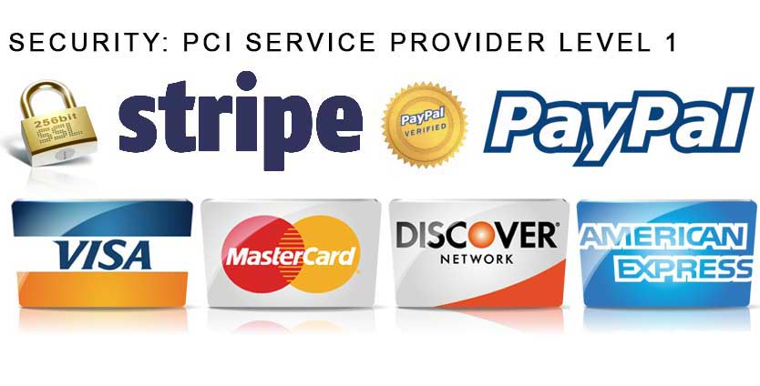 Ahoy Designs website is secure - Stripe and Paypal are used