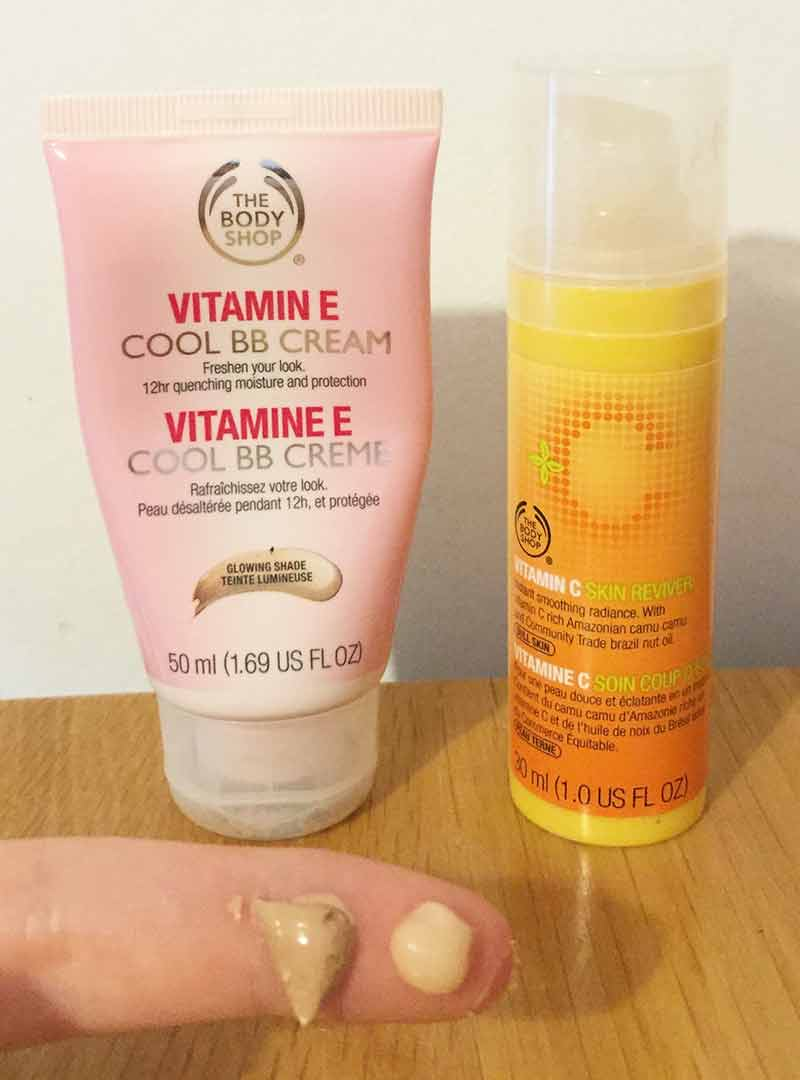 The Body Shop Vitamin C and BB Cream for moisturiser - Wedding DIY Make Up tutorial without contouring - Ahoy Designs