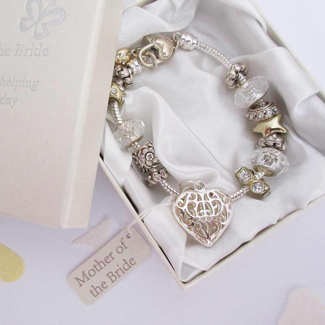 Mother of the Bride bracelet - silver and gold, with charms - Ahoy Designs