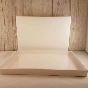 Plain/Blank Guest Book in White