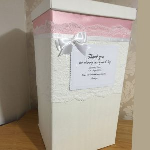 Wedding post box personalised
