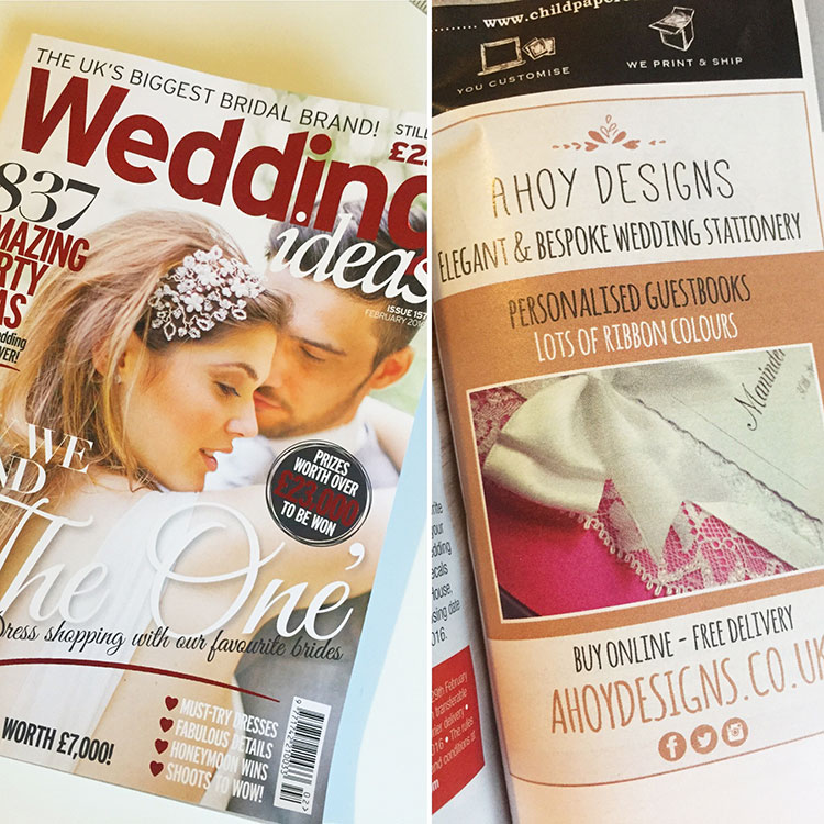 Our Guestbooks Are In Wedding Ideas Mag!