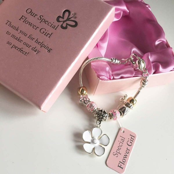 Flowergirl silver bracelet