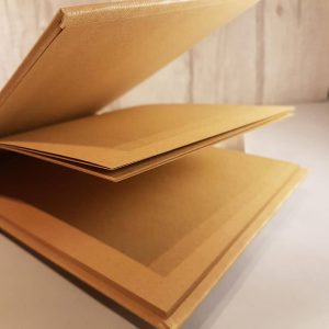 Plain/Blank Guest Book in Brown