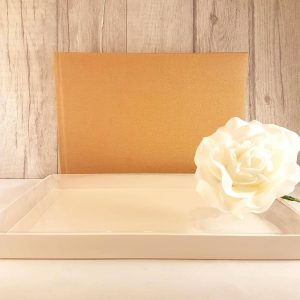 Plain brown guest book for weddings or any occasionx