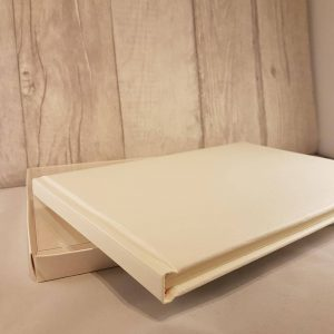 Plain/Blank Guest Book in Ivory
