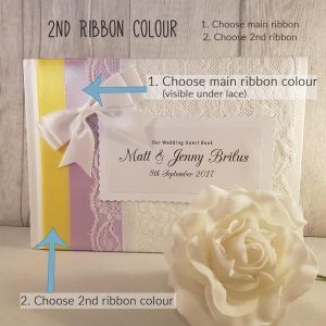 Double Ribbon Personalised Guest Book
