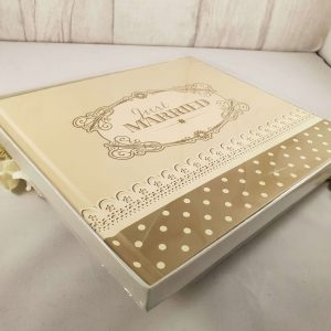 Just Married Guest Book - Gold