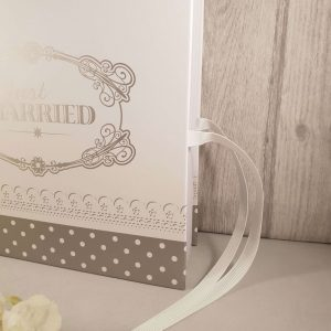 Just Married Guest Book - White & Silver