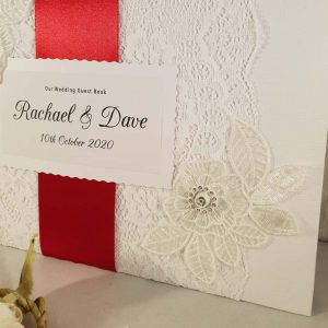 Personalised White Floral Guest Book
