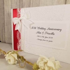 40th Ruby Wedding Anniversary Memory Guest Book