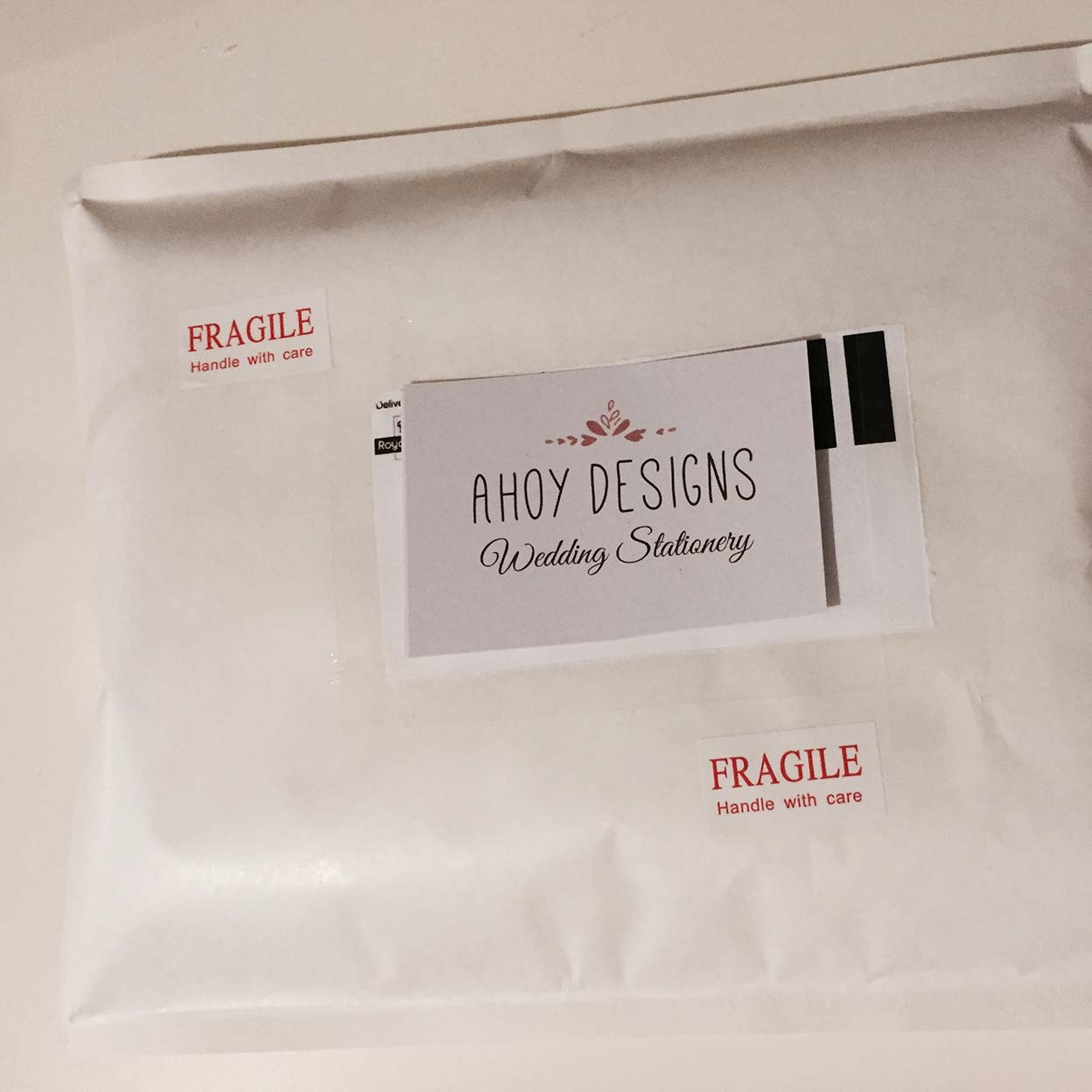 Personalised guestbook - how I package them